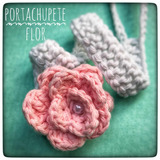 Escarpines Y Portachupete Con Caritas Tejidos Al Crochet en Mercado ... 855037b3598