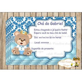 Convite Cha De Bebe Ursinho Principe Convites De Chá De Bebê No