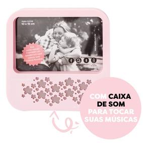 Porta Retrato Com Speaker Flor Uatt Presente Dia Das Mães