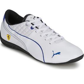 f85e2d627 Tenis Puma Drift Cat 6 Ferrari Low Blanco Total Azul Jc Dña