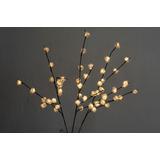 Figura Decorativa Iluminada Con 48 Mini Rosas Blancas
