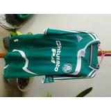 Camisa adidas Palmeiras Verde 2007/2008 Nº 7 Usada G