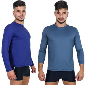Kit 5 Camisa Térmica Masculina Segunda Pele Praia Uv Surf