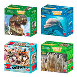 Rompecabezas Super Puzzle 3d Animales Selfies Perros Dinosau