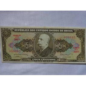 Cédula De 5 Cruzeiros 1962 Segunda Estampa C071 Sob