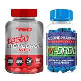 Kit M-drol + Metildrol Ganhe Massa Muscular E Definição