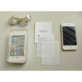 Apple Ipod Touch Cromado 4 Geração 8gb Completo Caixa