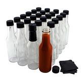 5 Onzas Botellas De Salsa Picante Paquete De 24 Vidrio Tr