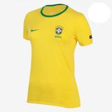 Camiseta Nike Cbf Ah9810-749 Feminina Amarelo Original