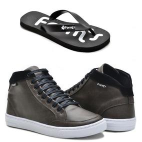 53a184cf20f Tênis Cano Alto Adidas Mas Chinelo - Sapatos no Mercado Livre Brasil