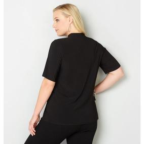 Blusa Plus Size Verão Decote V Trabalho Tamanho Grande Top