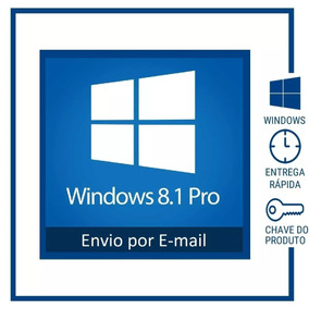 Windows 8.1 Pro 32/64 Bits - Original - Chave Serial