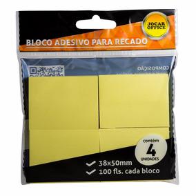 Bloco Adesivo Post It Recados 38mmx50mm Amarelo Pacote C/ 10