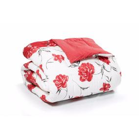 Kit 1 Edredom Casal + 2 Travesseiros + 1 Jg De Cama 4 Peças