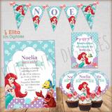 Invitaciones Para Cumpleanos De La Sirenita Ariel En Mercado Libre