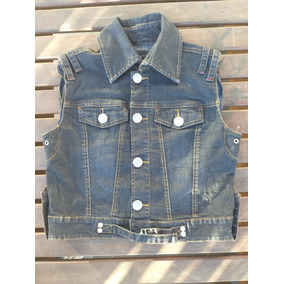 Chaleco De Mezclilla Denim Jeans Tipo Bershka 702c55db896c