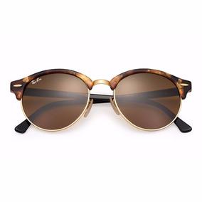 163a088df4 Ray Ban Clubround Marrom Round - Óculos no Mercado Livre Brasil