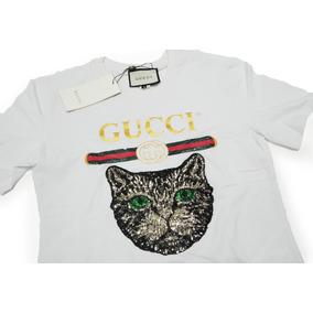 Camiseta T-shirt Gucci Cat By Firenze Feminina Fotos Reais ab3bb3556f674