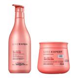 Kit Loreal Inforcer Shampoo 500ml + Mascara 250ml