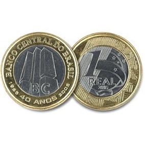 Moeda De 1 Real De 40 Anos Do Banco Central (moeda Escasa)