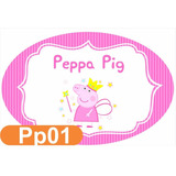 Elipse Placa Pvc Peppa 60x40cm