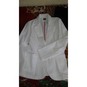 Saco Casual De Vestir Color Blanco
