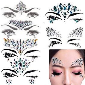 6 Sets Mermaid Face Gems Festival Jewels Crystals Bindi Rain