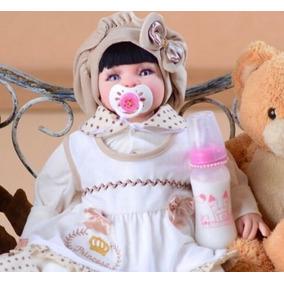 Bebe Reborn Boneca Realista Barata 53cm Pérolas Princesa