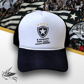 34b5c28f03 Boné Botafogo Ninguem Cala Esse Amor Trucker Frete Grátis