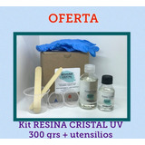 Kit Resina Epoxica Cristal Filtro Uv Joyas Y Manualidades