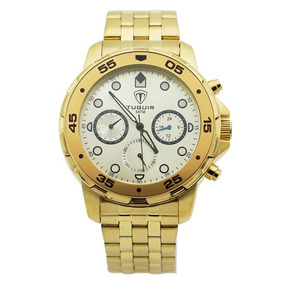 06427b62e0a Relógio Tuguir Analógico 5024 Dourado - Relógios De Pulso no Mercado ...