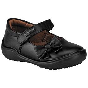 Zapato Escolar Para Niña Marca Coqueta Negro Piel 47227 Dgt 94524d9a325c