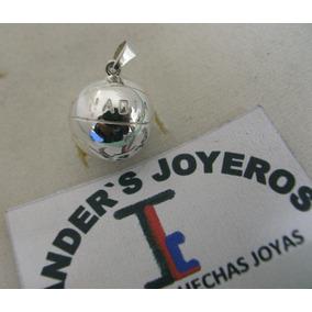 $549 Llavero O Dije Balón 3d Basketball Plata Ley.950 + Dhl