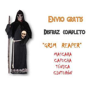 Disfraz Santa Muerte Grim Reaper Calavera Halloween Miedo