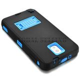 Samsung Galaxy Note 2 - Black+blue - Híbrido De Goma Ru-3195