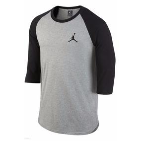 Playera Nike Jordan 3/4 Fly Bordado Talla L