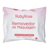 Removedor De Maquiagem Ruby Rose - Lenços Umedecidos
