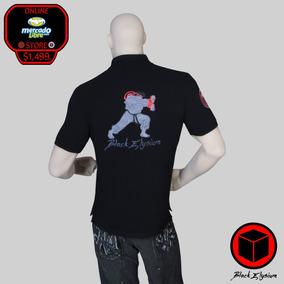 Distrito Federal · Playera Polo - Street Fighter Ryu Bordado 3d - Black  Elysium 031d3f14f55