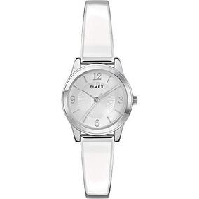 Timex Tw2r98300 Stretch Bangle Para Mujer De 25 Mm Blanco   93d4fda08c5f