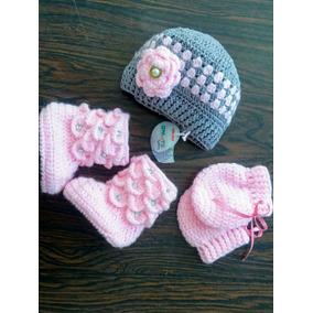 4f926534f163c Touca Em Crochê Para Seu Bebê Flor E Orelhas - Roupas de Bebê no ...