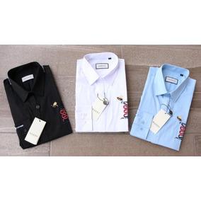 Camisa Gucci Vestir Caballero Diseño Abeja Y Serpiente (4)