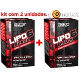 Kit 2x - Lipo 6 Black Uc Nutrex 60caps Ultra Concentrado