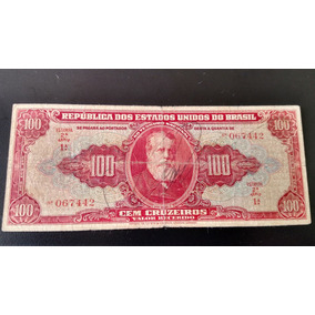 Cedula C094 1ª Serie - 100 Cruzeiros - Autografada