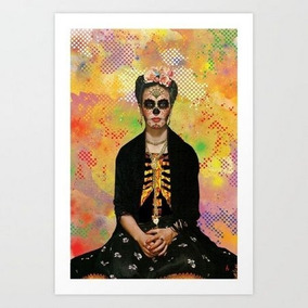 Pôster Frida Kahlo, Arte Decoração Print Arte De Rua Pop Art