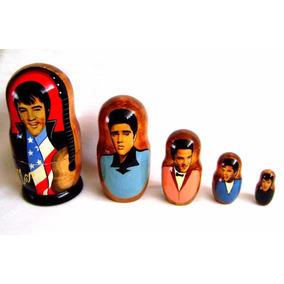 Bonecas Russas Matrioska 5pcs Elvis Presley 17-18cm