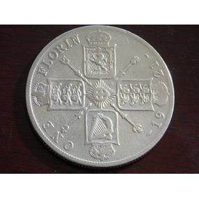 Moeda Antiga De Prata Inglaterra. One Florin 1921.