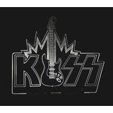 Banda Kiss Com Guitarra Luminária Acrilico Com Led