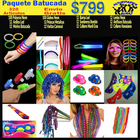 Paquete Batucada $799 Fiesta Neon Boda Xv Años Envio Gratis