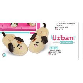 Pantufla P/dama Cklass Urban 057-04 Perrito Dog Orejas