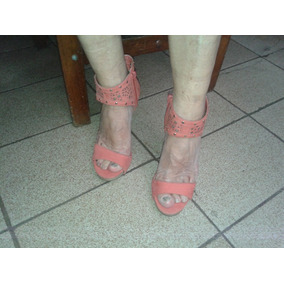 Sandalia Com Ziper Salto Alto